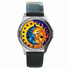 Celestial Sun and Moon Stars Colorful Sign Leather Watch New!
