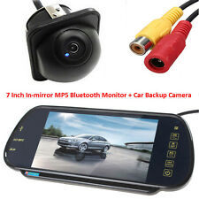 "Night Vision Auto Reverse Camera + 7"" MP5 Bluetooth Car Rearview Mirror Monitor"