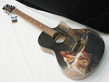 LUNA Gypsy Lady of Shalott acoustic GUITAR new Graphic Top Shallot