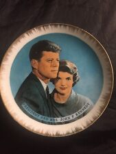 President John F Kennedy And Jackie O Collectors Commemorate Plate - White Hous
