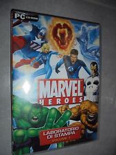 GIOCO PC CD-ROM MARVEL HEROES LABORATORIO DI STAMPA VOLUME 1