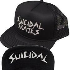 SUICIDAL SKATES MESH FLIP HAT CAP - GENUINE BLACK NEW ST OG THRASH TENDENCIES