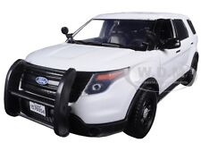 2015 FORD POLICE INTERCEPTOR UTILITY CAR SLICK TOP WHITE 1/24 BY MOTORMAX 76960