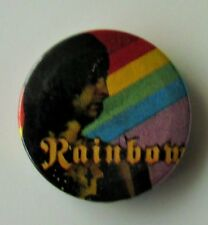 RAINBOW OLD METAL BUTTON BADGE FROM THE 1980's RITCHIE BLACKMORE