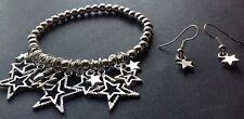 Bijoux Lucky Star charm stretch bracelet With Free Earrings boho/bibi