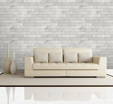 Wall26® - Horizontal Soft Gray Brick Pattern Paneling - Wall Mural- 66x96 inches