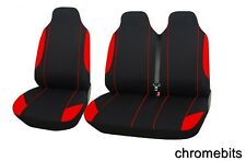 2+1 RED SOFT & COMFORT FABRIC SEAT COVERS FOR VAUXHALL VIVARO MOVANO VAN