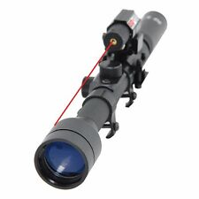 Tactical 3-7X28 Airsoft Optics Scope + Red Dot Laser Sight Combo w/ 20mm Rail
