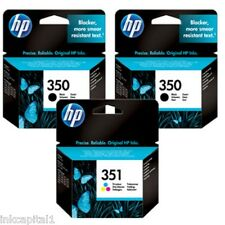 2 x 350 & 1 x 351 HP originale OEM Cartucce Per Photosmart C4450 ( 350 & 351 )