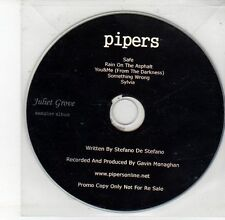 (DV535) Pipers, Juliet Grove 5 track album sampler - 2013 DJ CD