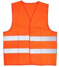 2 NEON ORANGE REFLECTIVE ADULT VEST safety clothing UNBRANDED security