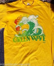 "SEATTLE SUPERSONICS NBA vintage t-shirt ""ROLL THE GREEN WAVE""  Small S"