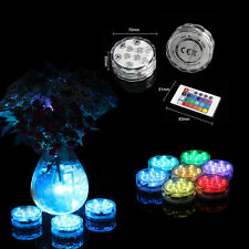 2× RGB Remote Color Changing LED SMD Light Submersible Table Bottle Direction
