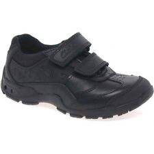 "Clarks Boys Nano Flash Black Leather ""Lights"" School Shoes size 13.5G RRP£36"
