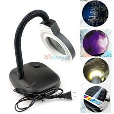 Adjustable 5X 10X Magnifying Desk Table Clamp Lamp Magnifier Light Glass Lens