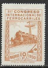 Spain stamps 1930 YV 441  TRAINS  MLH  F/VF