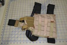 MSA paraclete made in USA desert camo drop leg with holster 9mm tactical MOLLE