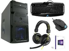COMPLETE GAMING SET Computer Keyboard Headset PC AMD Computer Windows 10 HDMI