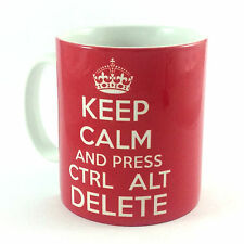 NEW KEEP CALM AND PRESS CTRL ALT DELETE GIFT MUG IT COMPUTER PRESENT CARRY ON