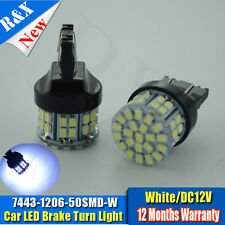 2pcs W21/5W 580 7443 T20 XENON WHITE 1206 50 SMD LED STOP TAIL CAR BULBS HONDA