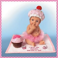 Ashton Drake I WANT MY CUPCAKE/EAT IT TO Baby Doll by Sherry Rawn
