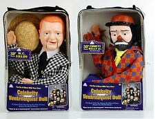 W.C. FIELDS AND EMMETT KELLY JR VENTRILOQUIST DUMMY DOLLS - GREAT DEAL - NEW!