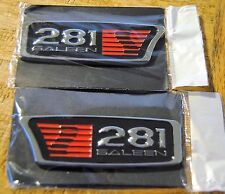 PAIR==1999-2004 FORD MUSTANG SALEEN S281== S-281  EMBLEMS ==NEW
