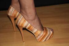 Plateau High Heels Pumps Stiletto Gr.39 Schuhe Absat.13,5 cm