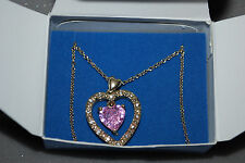 Avon Double Heart Necklace Goldtone Valentine's Day Wife Free Ship A14