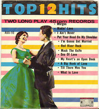 "DIVERS ""12 TOP HITS"" POP ROCK AND ROLL DOUBLE 60'S EP PROMENADE A-55-10"