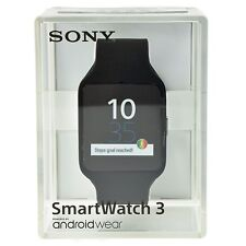 Sony SmartWatch 3 SWR50 Android 4.3 NFC IP68 GPS SW3 Waterproof - Black