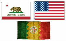 3x5 American & City of Los Angeles & State of California Set Flag 3'x5'