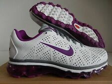 WMNS NIKE AIR MAX + 2011 LEA LEATHER WHITE-BOLD BERRY-GREY SZ 8 [456326-100]