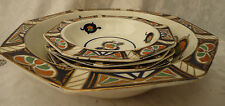 vintage pretty 6 piece ceramic dishes fruit pasta set imari colour woods display