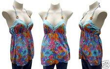 Rip Curl Baby Doll Halter Top Size 12 Ripcurl Blue Sweet Surf Escape Cami Shirt
