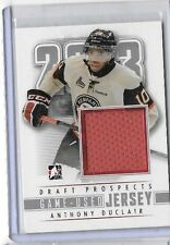ANTHONY DUCLAIR 2013 IN THE GAME DRAFT PROSPECTS SILVER VERSION WORN JERSEY