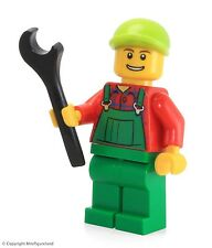 LEGO City MiniFigure: Overalls Farmer Green (Lime Cap)  Set 4626
