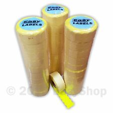 26x12mm Price Marking Gun Labels CT4 Motex Fluorescent Yellow Permanent Adhesive