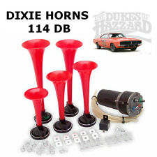 Dixie corne 114db extra loud dukes of hazzard corne avec pompe et raccords 12volts