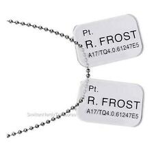 ALIENS Licensed Private Ricco FROST Colonial Marines DOG TAGS Prop REPLICA Set