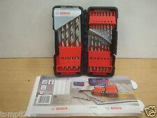 BOSCH 18PCE HSS-G METAL DRILL BIT SET + TOUGH BOX 2 607 019 578 + 6 PENCILS