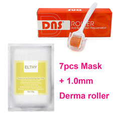7pcs ELTHY Oceanic Caviar Pore Refining Paper Mask 1.0mm DNS Derma Roller Gift