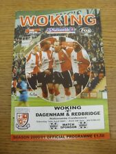 14/04/2001 Woking v Dagenham And Redbridge  . Any faults with this item have bee