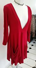 THE MASAI CLOTHING COMPANY Red Dress , Size:Small Lagenlook Boho Hippy