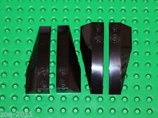 Lego Black Wedge Slope 2x6 4 pieces NEW!!!