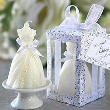 Squisito Bianco Sposa Nuziale Forma Candela Bomboniere Matrimonio Decorazione