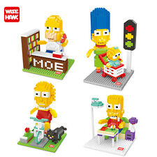 The Simpsons 4 sets Nanoblock micro mini building block kid educational toy