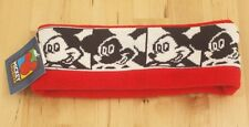 NWT Vintage Mickey Mouse Unlimited Black & White Red Fleece Ski Winter Headband
