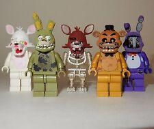 x5 **NEW** LEGO Custom Printed FNAF - Five Nights At Freddy's Minifigure Lot