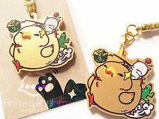 Golden Acrylic  strap charm:  Fat Chocobo Final Fantasy / cell-phone / Strap